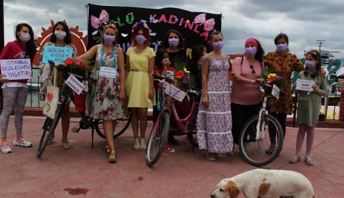 Gerze'de 'Süslü Kadınlar Bisiklet Turu'