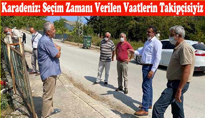 Milletvekili Karadeniz Gerze'nin Köylerinde Vatandaşlarla Bir Araya Geldi