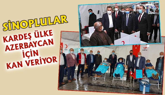 'Sinoplular Kardeş Devlet Azerbaycan İçin Kan Veriyor'