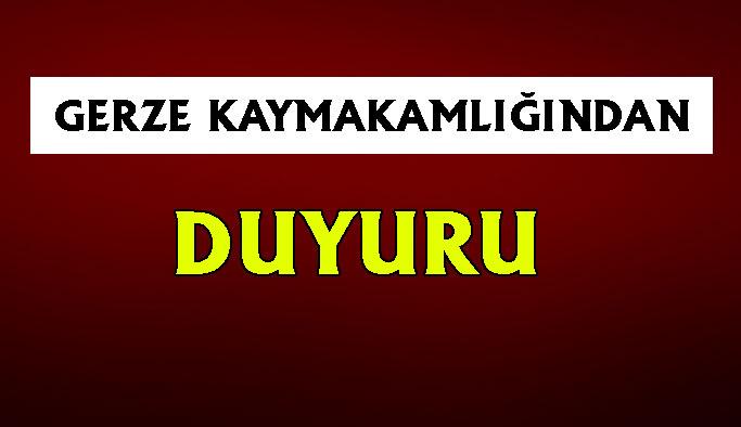 Gerze Kaymakamlığından İzmir'e Destek Kampanyası