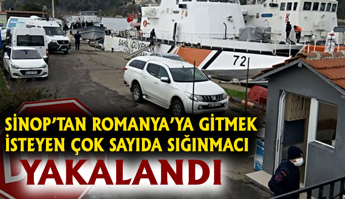 Sinop açıklarında çok sayıda kaçak göçmen yakalandı