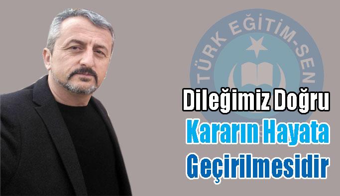 Türk Eğitim Sen'den Çağrı
