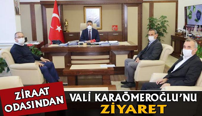Ziraat Odasından Karaömeroğlu'nu Ziyaret