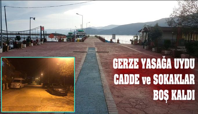 Gerze'nin Sokakları Boş Kaldı