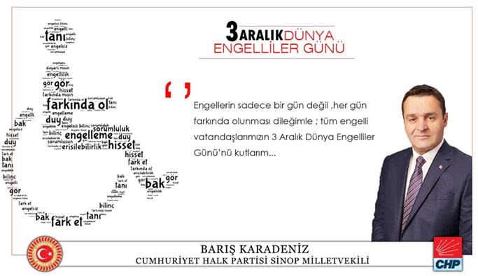 Karadeniz'in Dünya Engelliler Günü Mesajı