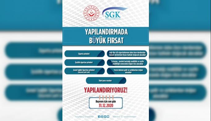 SGK İl Müdürlüğünden Yapılandırma ile ilgili Açıklama