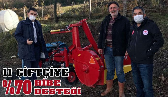 Gerzeli çiftçilere yüzde 70 hibeli makine ekipman desteği