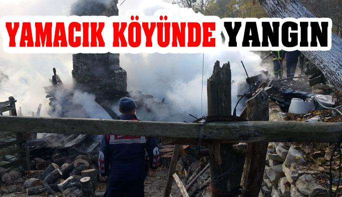 Yamacık Köyünde Yangın: 1 ÖLÜ!