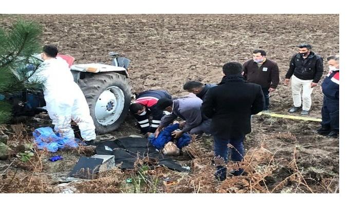 Dikmen'de Traktör Kazası:1 Ölü