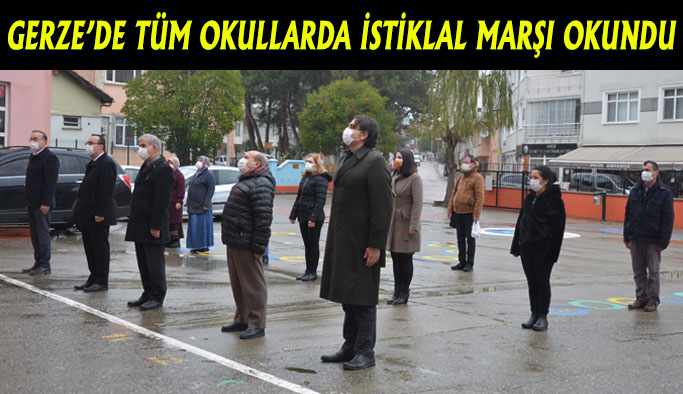Gerze'de tüm okullarda İstiklal Marşı okundu