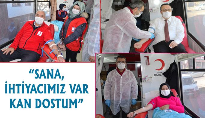 İlçe Milli Eğitim Müdürlüğü Kan Bağışında