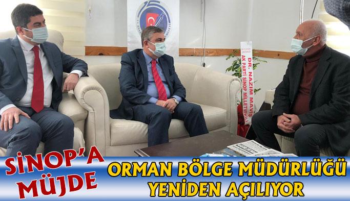 Sinop Orman Bölge Müdürlüğü Yeniden Kuruluyor