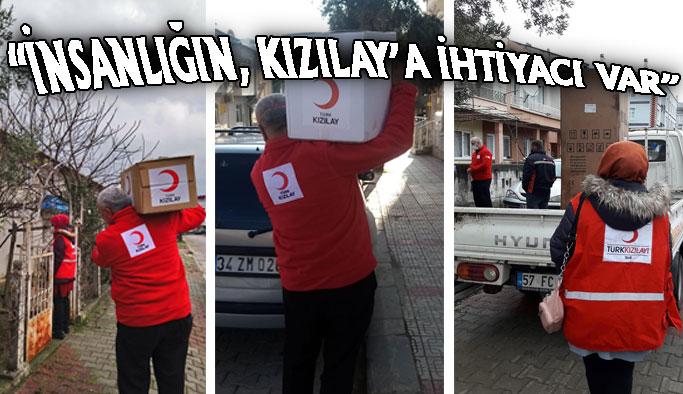 Kızılay Gerze'de, 2 bin aileye ulaştı