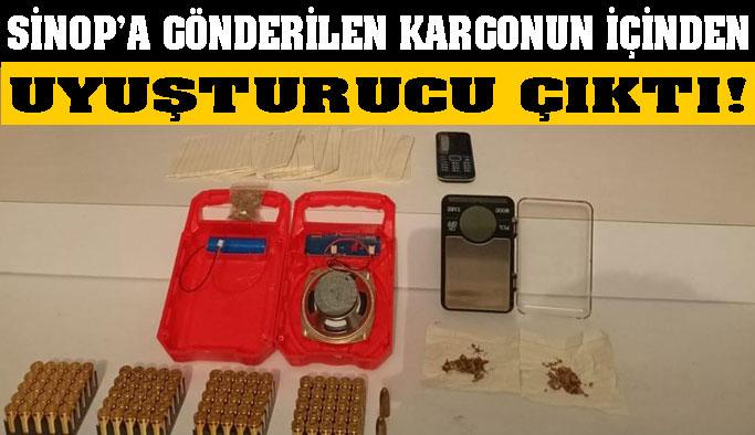 Sinop'a göndereceklerdi, içinden uyuşturucu çıktı