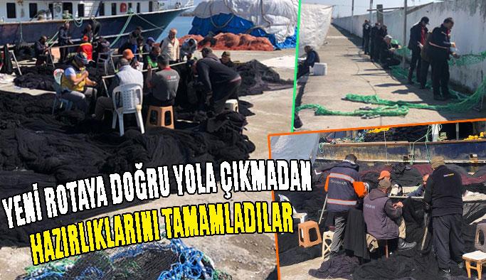 Mevsimlik balıkçılar, Akdeniz'e doğru yola çıktı