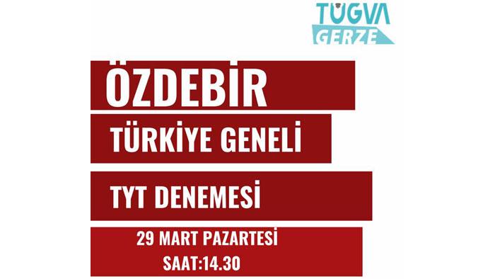 TÜGVA'dan Ücretsiz TYT Deneme Sınavı : Son Başvuru Bugün
