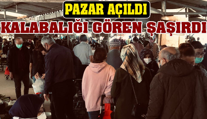 Halk pazarı günler sonra açıldı