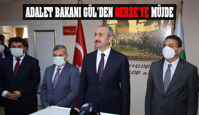 Adalet Bakanı Gül'den Gerze'ye Adalet Sarayı Müjdesi