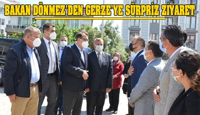 Bakan Dönmez, Gerze'de