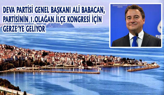 Ali Babacan Gerze'ye Geliyor