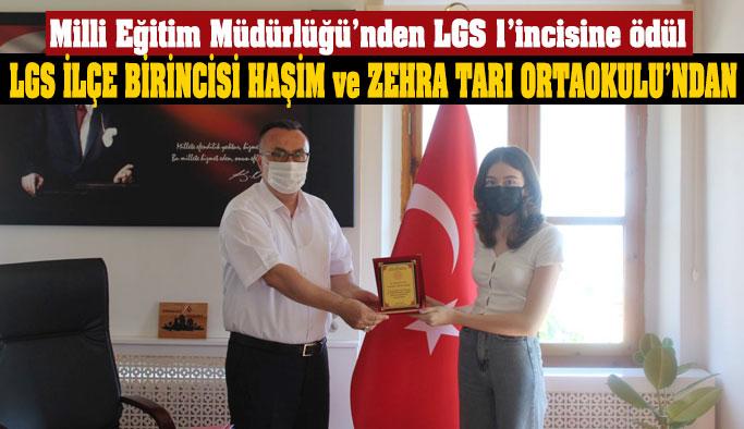 LGS İlçe 1'incisi Haşim ve Zehra Tarı Ortaokulu'ndan