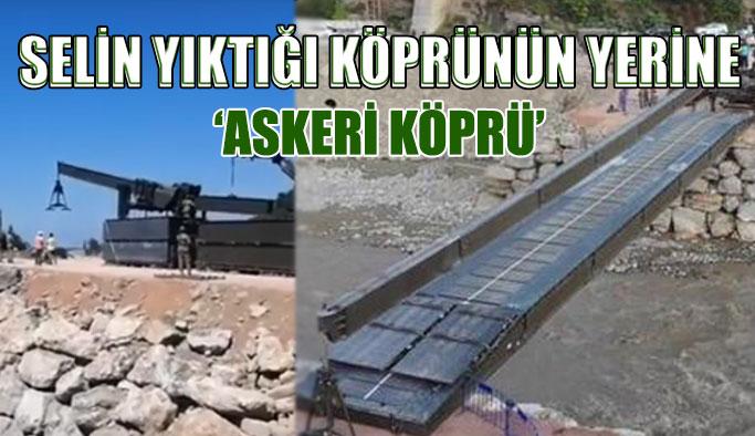 Selden zarar gören köprünün yerine yeni köprü
