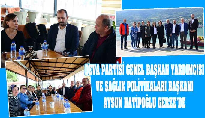 DEVA Partisi Genel Başkan Yardımcısı Hatipoğlu, Gerze'de