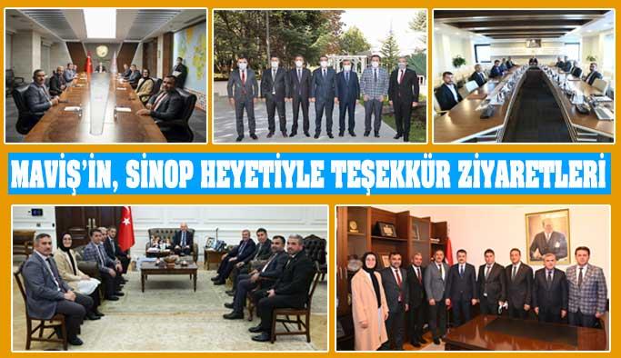 Maviş'in, Sinop Heyetiyle Teşekkür Ziyaretleri