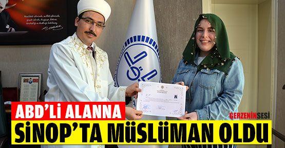 Amerikalı Alanna Sinop'ta Müslüman Oldu