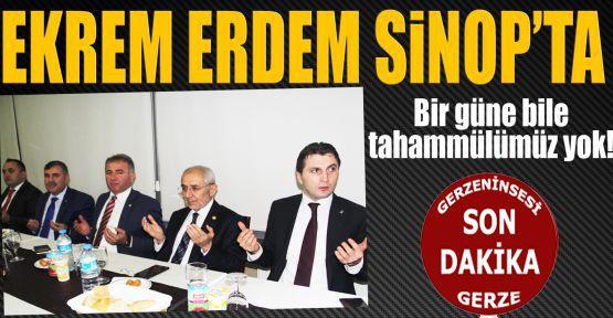 AK Parti Genel Başkan Yardımcısı Erdem Sinop'ta