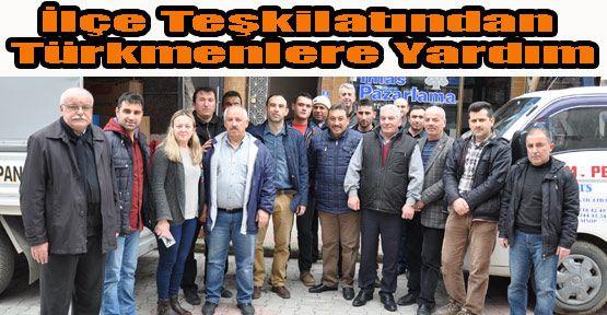 Ak Parti İlçe Teşkilatından Bayır Bucak Türkmenlerine Yardım
