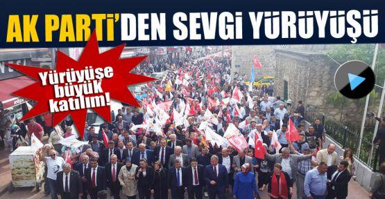 AK Parti Sinop'ta 'Sevgi Yürüyüşü' yaptı