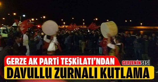 Ak Partililerden Davullu Zurnalı Kutlama