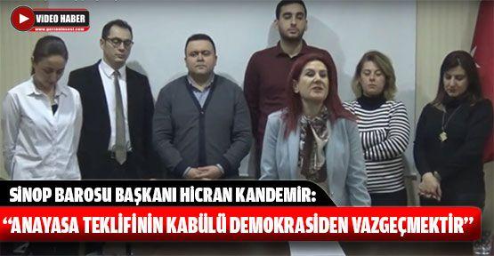 """""""Anayasa Teklifinin Kabülü Demokrasiden Vazgeçmektir"""""""