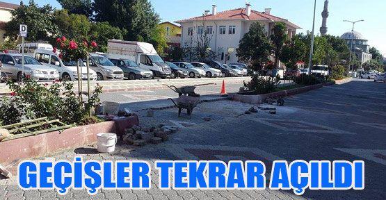 Atatürk Caddesi'nde Çalışmalar Tekrar Başladı