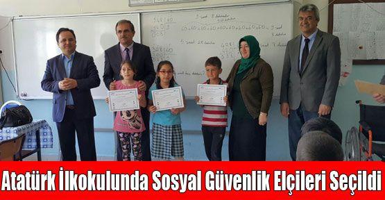 Atatürk İlkokulunda Sosyal Güvenlik Elçileri Seçildi