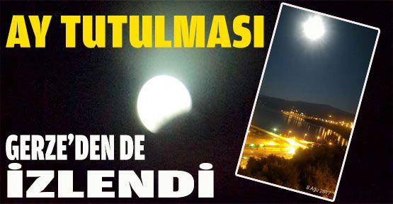Ay Tutulması, Gerze'de İlgi Çekici Manzara Oluşturdu