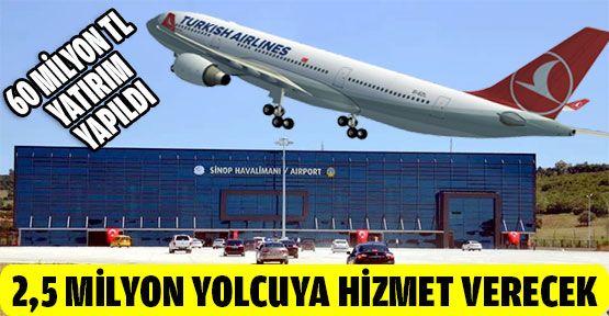 """""""Sinop havalimanı yılda 2 buçuk milyon yolcuya hizmet verecek"""""""