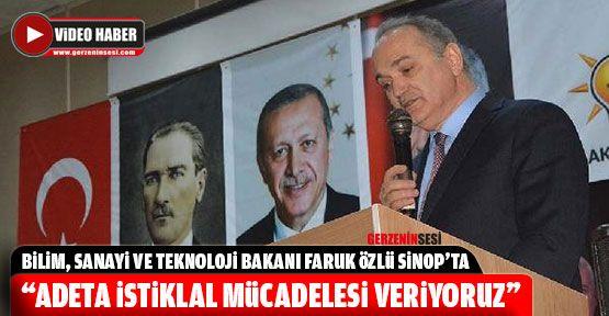 Bakan Özlü Sinop'a Geldi