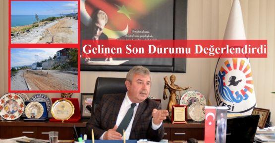 Başkan Belovacıklı, Göçen yolla alakalı konuştu