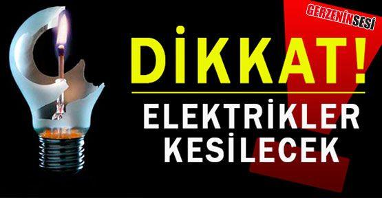 Bu Köyler Dikkat! Elektrikler Kesilecek