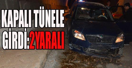 Demirci Köyü Tünelinde Meydana Gelen Kazada 2 Kişi Yaralandı