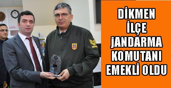 Dikmen İlçe Jandarma Komutanı Emekli Oldu