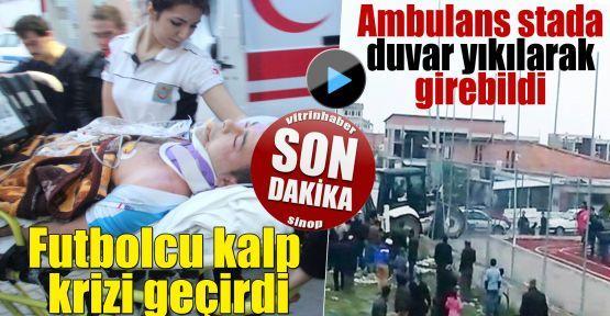 Futbolcu kalp krizi geçirince ambulans stada giremedi
