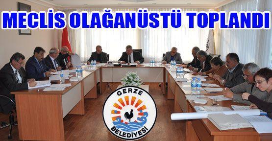 Gerze Belediye Meclisi Olağanüstü Toplandı