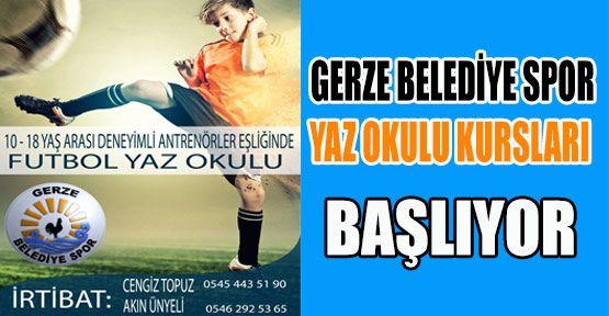 Gerze Belediye Spor, Ücretsiz Futbol Yaz Okulu Açtı