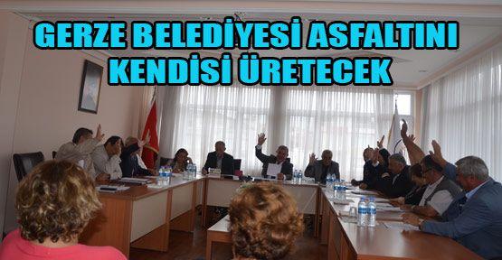 Gerze Belediyesi Asfalt Malzemesini Kendisi Üretecek