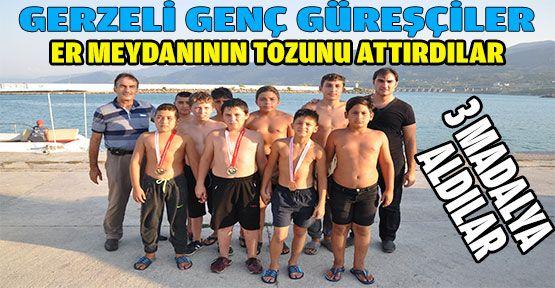 Gerze Halk Eğitim Güreş Takımı, er meydanının tozunu attırdı