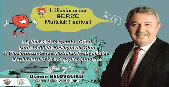 Gerze Mutluluk Festivaline Hazırlanıyor