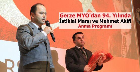 Gerze MYO'da Mehmet Akif Anıldı